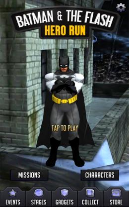 Batman & The Flash: Hero Run - меню