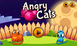 Angry Cats - меню