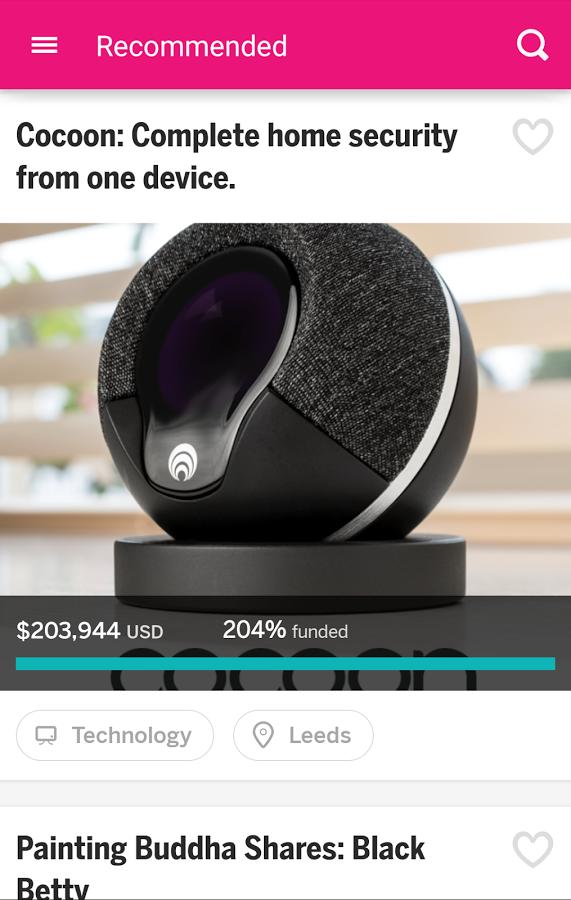 Проект - Indiegogo для Android