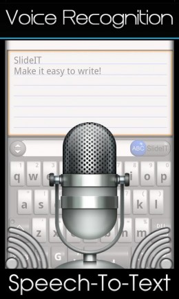 Голосовой ввод - SlideIT для Android
