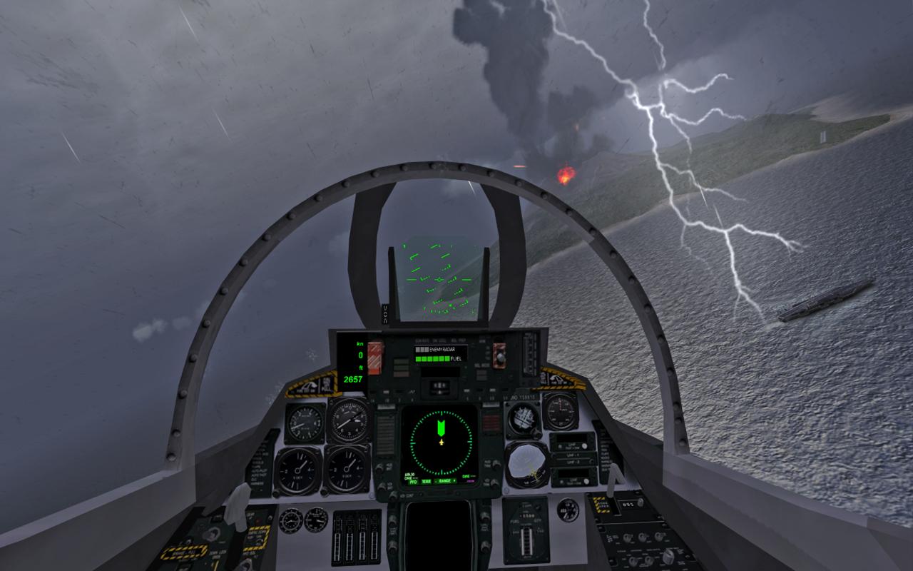 Вид из кабины - F18 Carrier Landing II для Android