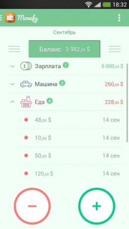Категории - Monefy для Android