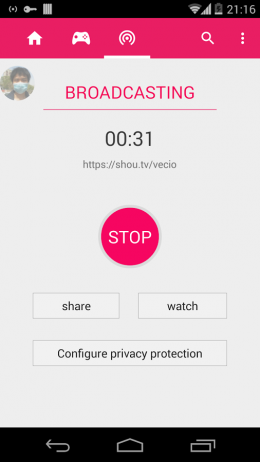 Время - Shou.TV (Screen Recorder Pro) для Android