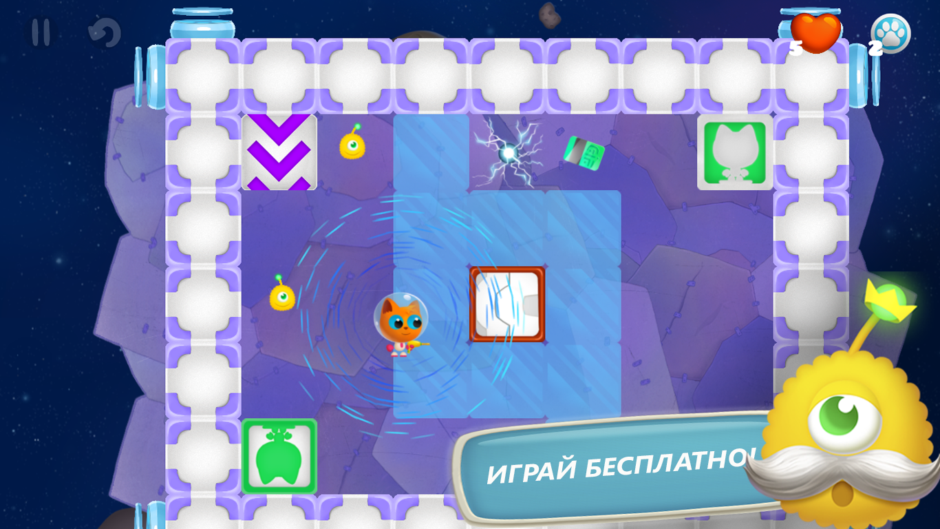 Геймплей - Space Kitty Puzzle для Android