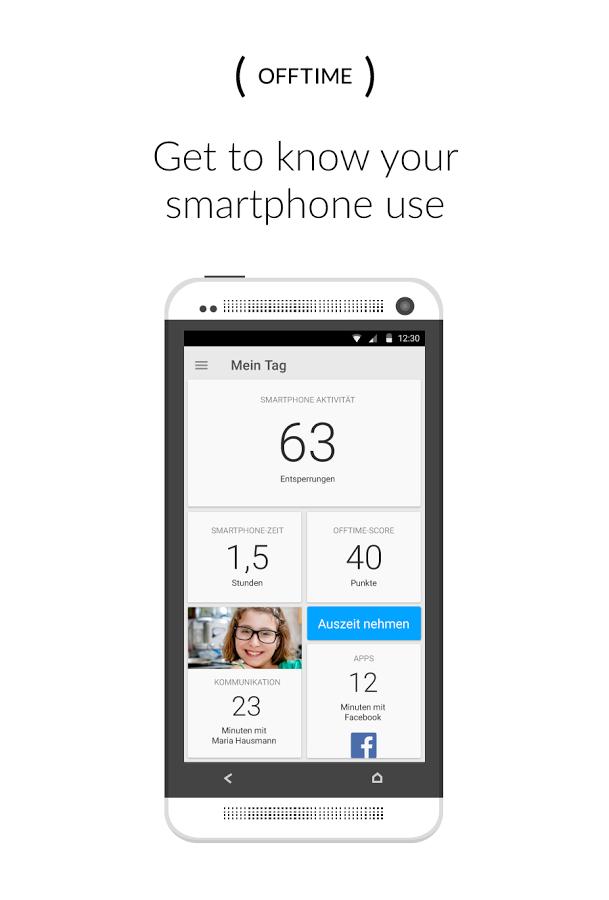 Интерфейс - ( OFFTIME ) для Android