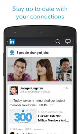 Записи - LinkedIn для Android
