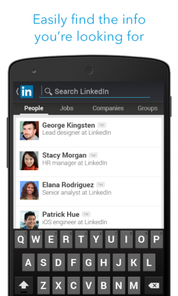 Поиск - LinkedIn для Android