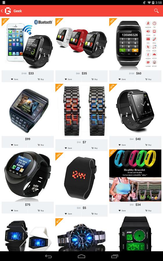 Каталог - Geek - Smarter Shopping для Android