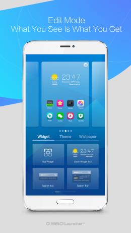 Меню - 360 Launcher для Android