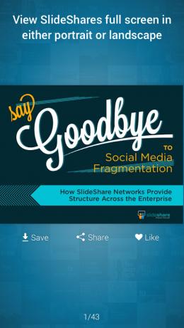 Слайд - SlideShare Presentations для Android