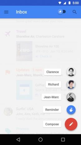 Контакты - Inbox от Gmail для Android