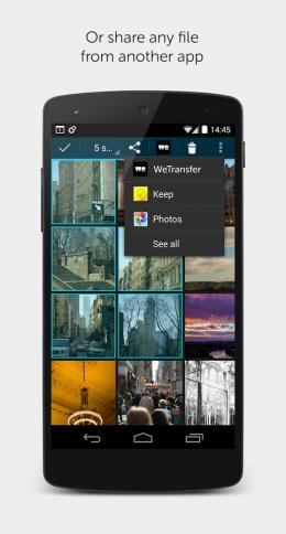 Выбор фото - WeTransfer для Android