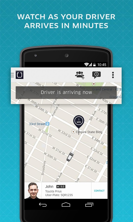 Карта - Uber для Android