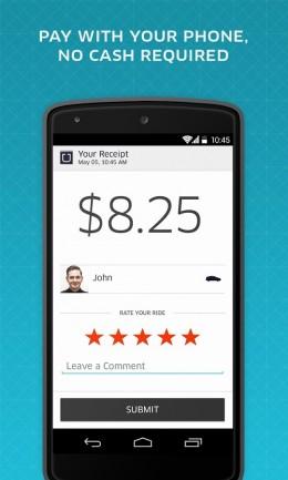 Стоимость поездки - Uber для Android