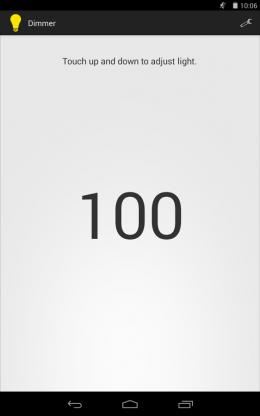 Интерфейс - Dimmer для Android