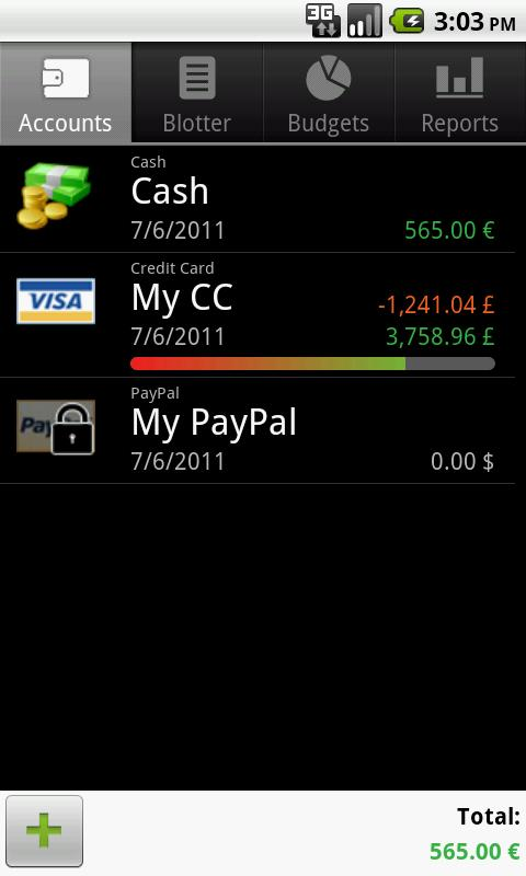 Счета - Financisto для Android