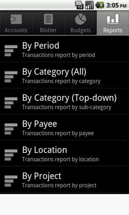Сортировка - Financisto для Android