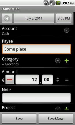 Учет - Financisto для Android