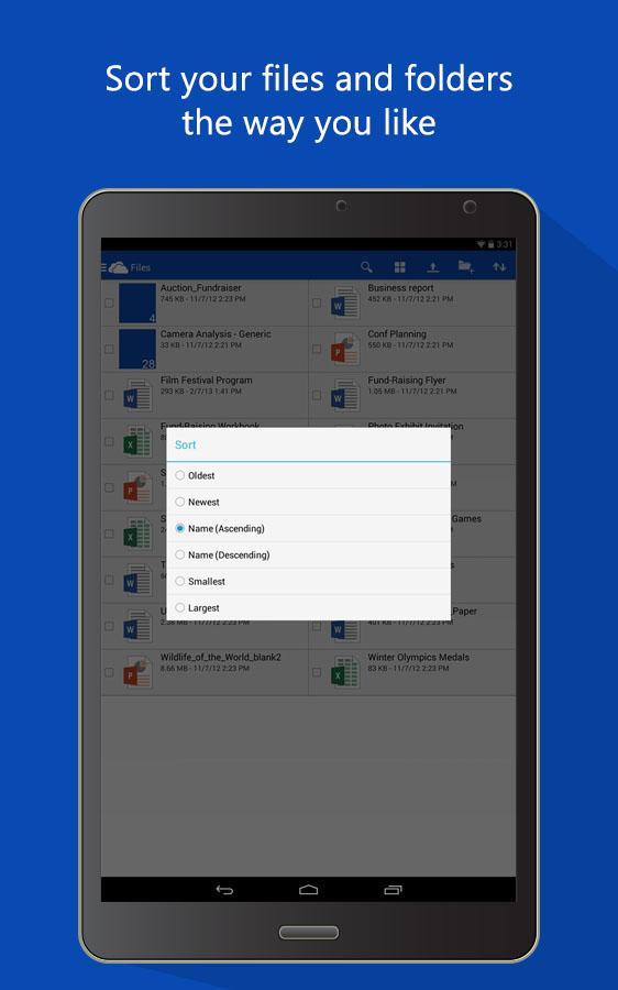 Папки - OneDrive для Android