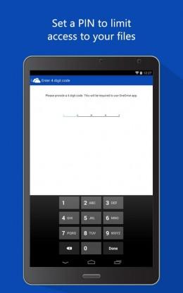 Пароль - OneDrive  для Android