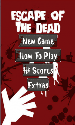 Меню - Escape of the dead для Android