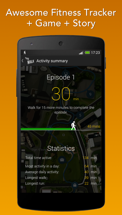 Интерфейс - The Walk: Fitness Tracker Game для Android