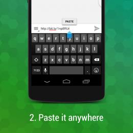 Вставка - ShortPaste для Android