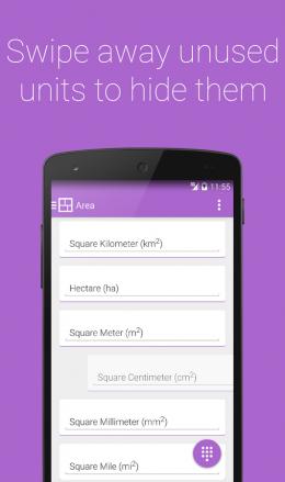 Площадь - S Converter для Android