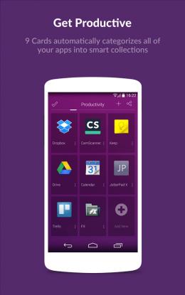 Приложения - 9 Cards Home Launcher для Android
