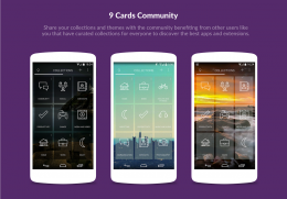 Темы - 9 Cards Home Launcher для Android