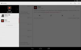 Выдвижная панель - Fenix for Twitter для Android