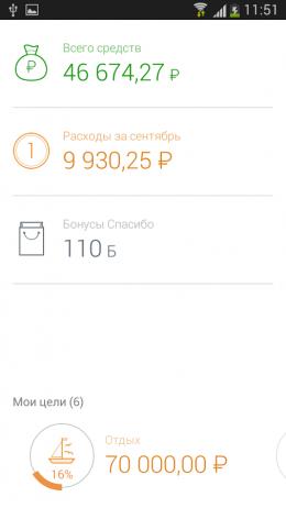 Сумма - Сбербанк ОнЛ@йн для Android