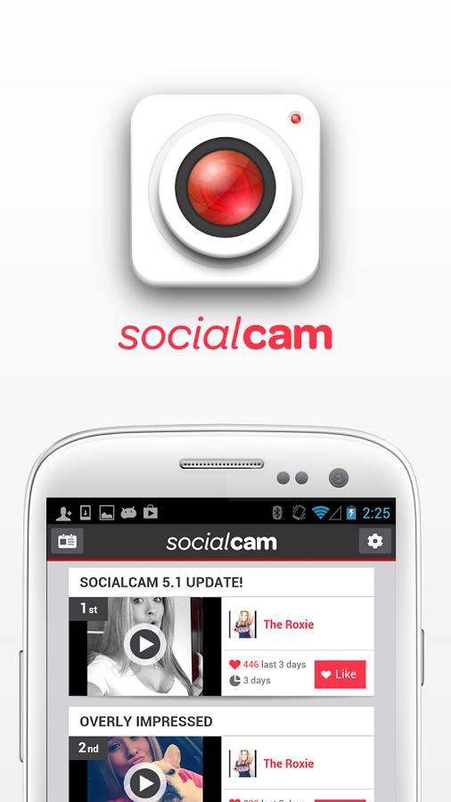 Интерфейс - Socialcam для Android