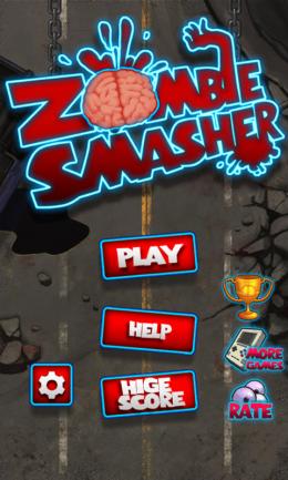 Zombie Smasher - меню