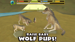 Wildlife Simulator: Wolf - семья
