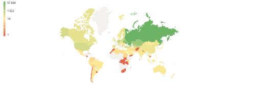 География аудитории по странам