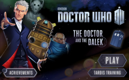 The Doctor and the Dalek - меню