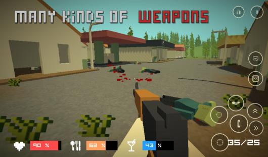 Pixel Z - Gun Day – уничтожение зомби
