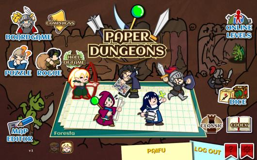 Paper Dungeons - клеточный мир