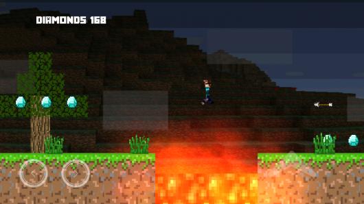 MineScroller - пиксельный мир