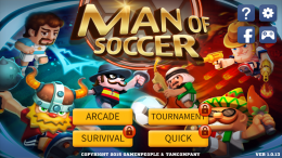 Man Of Soccer - меню