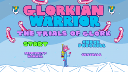 Glorkian Warrior - меню