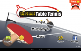Virtual Table Tennis - меню