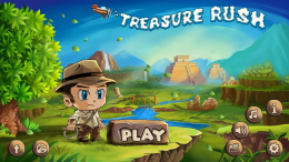 Treasure Rush - меню