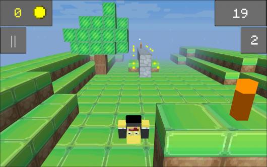 Mine Runner - раннер в стиле майнкрафта