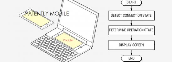 Патент на смартфон в ноутбуке от Samsung