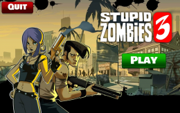 Stupid Zombies 3 - меню