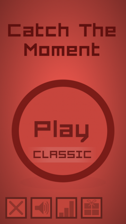 Catch The Moment - меню