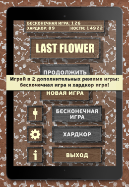 Last Flower - меню