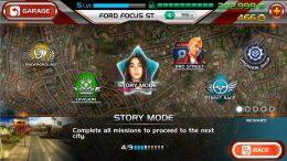 Nitro Nation Stories - карта